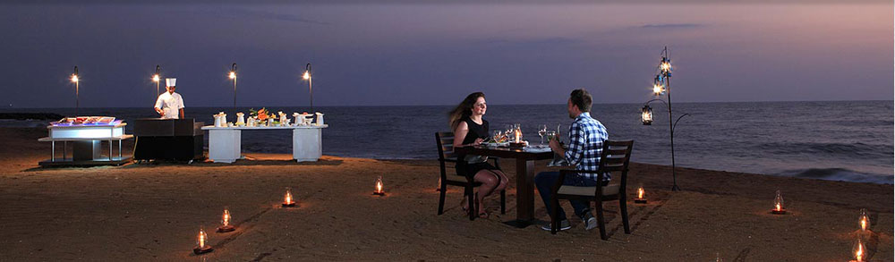 dinner at beach Sri Lanka